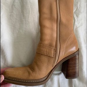 Mia vintage booties ankle boots 6.5 tan/camel